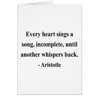 Aristotle Quote 3a Card