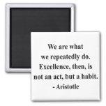 Aristotle Quote 4a 2 Inch Square Magnet
