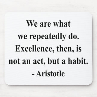Aristotle Quote 4a Mouse Pad