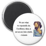 Aristotle Quote 4b 2 Inch Round Magnet