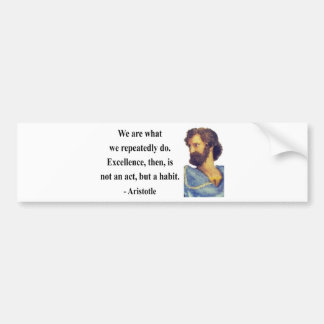 Aristotle Quote 4b Bumper Sticker