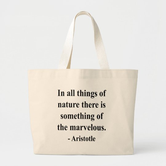 Aristotle Quote 5a Large Tote Bag