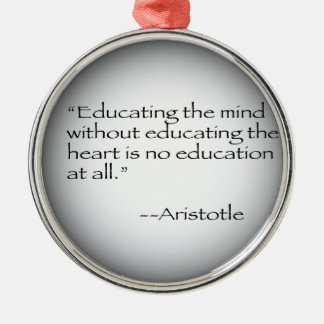Aristotle Quote Metal Ornament