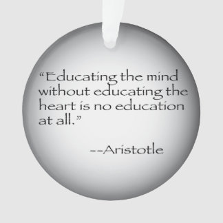 Aristotle Quote Ornament