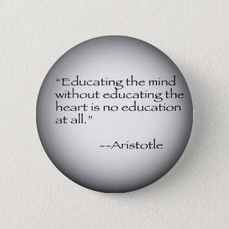 Aristotle Quote Pinback Button