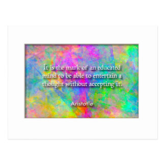 Aristotle quote postcard