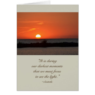 Aristotle Quote Sunset Sympathy Card