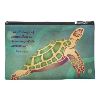 Aristotle Quote with Turtles Travel Accessory Bag