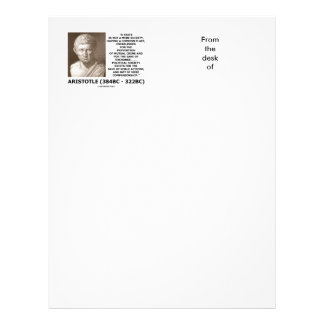 Aristotle State Not Mere Society Noble Action Letterhead