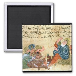 Aristotle teaching refrigerator magnet
