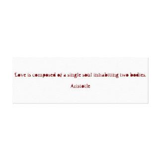 Aristotle Valentine's Day Canvas