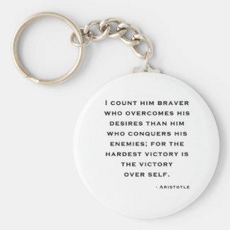 Aristotle - Victory over self Key Chain