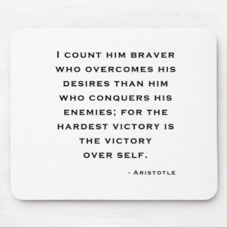 Aristotle - Victory over self Mouse Pad