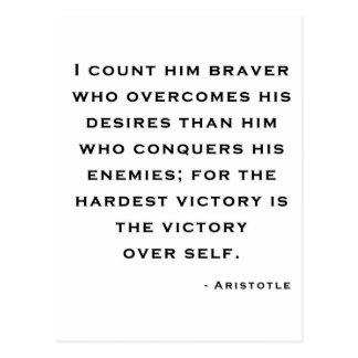 Aristotle - Victory over self Postcard