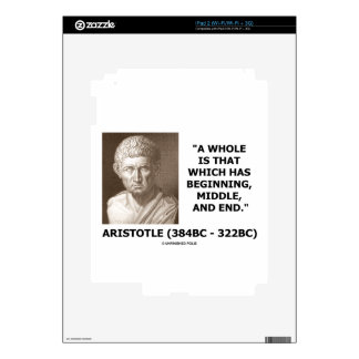 Aristotle Whole Which Has Beginning Middle End iPad 2 Skin