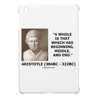 Aristotle Whole Which Has Beginning Middle End iPad Mini Cover