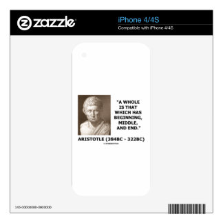 Aristotle Whole Which Has Beginning Middle End iPhone 4S Decal