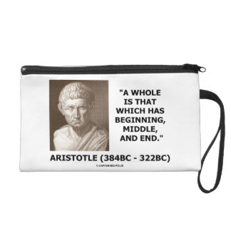 Aristotle Whole Which Has Beginning Middle End Wristlet Purse