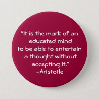 Aristotle-Wisdom Quote Button