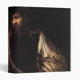 Aristotle with a Bust of Homer 3 Ring Binder