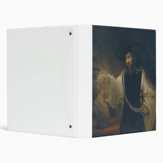 Aristotle with a Bust of Homer by Rembrandt 3 Ring Binder