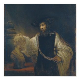 Aristotle with a Bust of Homer by Rembrandt Card