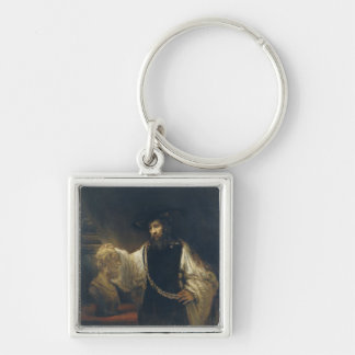 Aristotle With A Bust Of Homer by Rembrandt Keychain