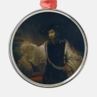 Aristotle with a Bust of Homer by Rembrandt Metal Ornament