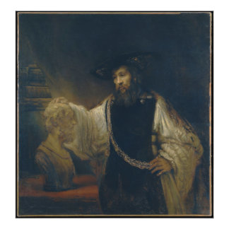 Aristotle with a Bust of Homer by Rembrandt Photo Print