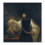 Aristotle With A Bust Of Homer by Rembrandt Poster