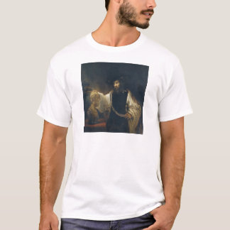 Aristotle With A Bust Of Homer by Rembrandt T-Shirt