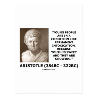 Aristotle Young People Condition Intoxication Post Card