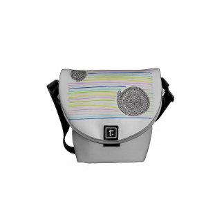 Arithmetic Mandara who has the rainbow Courier Bag