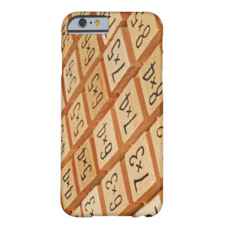 Arithmetic. Multiplication times table wooden Barely There iPhone 6 Case