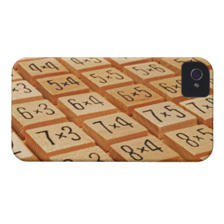 Arithmetic. Multiplication times table wooden Case-Mate iPhone 4 Case