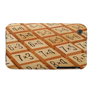 Arithmetic. Multiplication times table wooden iPhone 3 Cases