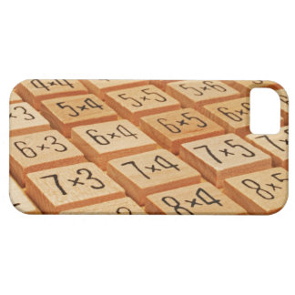 Arithmetic. Multiplication times table wooden iPhone SE/5/5s Case