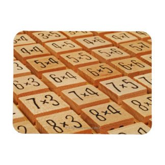 Arithmetic. Multiplication times table wooden Magnet