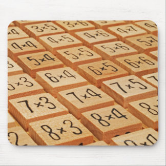 Arithmetic. Multiplication times table wooden Mouse Pad