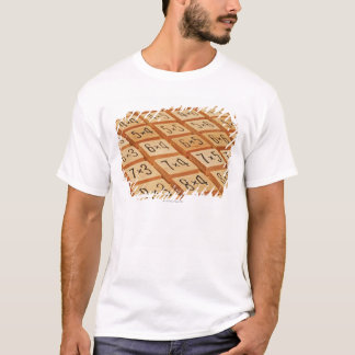 Arithmetic. Multiplication times table wooden T-Shirt