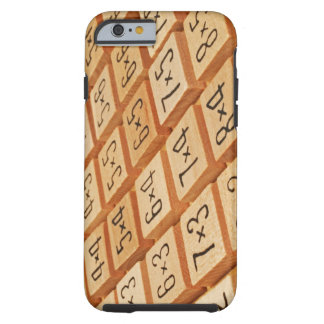 Arithmetic. Multiplication times table wooden Tough iPhone 6 Case