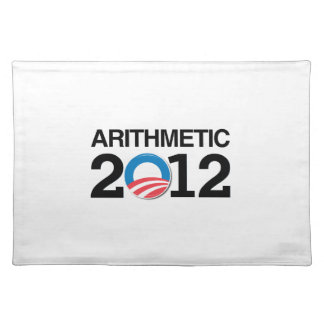 ARITHMETIC WITH OBAMA -.png Cloth Placemat