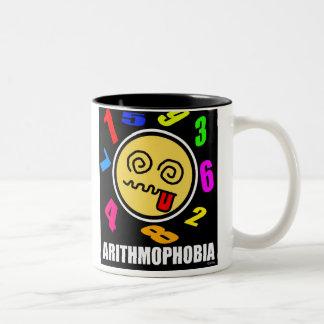 Arithmophobia Two-Tone Coffee Mug