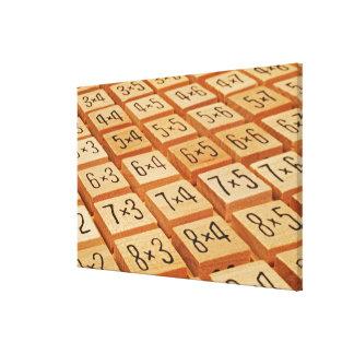 Aritmético. La multiplicación mide el tiempo de la Lienzo Envuelto Para Galerias