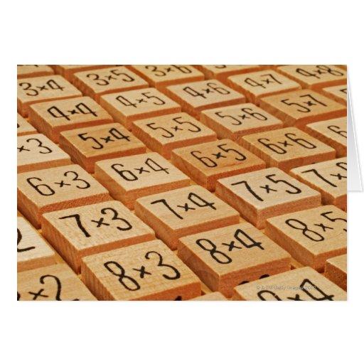 Aritmético. La multiplicación mide el tiempo de la Tarjetas