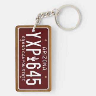 Arizona 1980 Vintage License Plate Keychain Acrylic Keychain