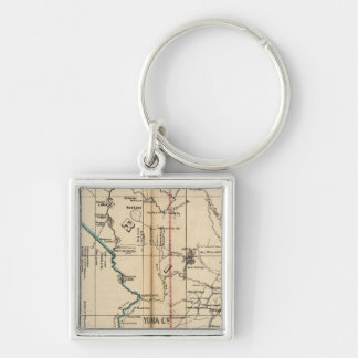 Arizona 2 Silver-Colored square keychain