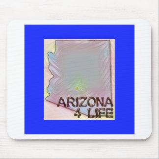 """Arizona 4 Life"" State Map Pride Design Mouse Pad"