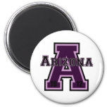 Arizona 'A' Purple2 Fridge Magnets