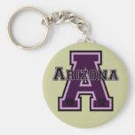 Arizona 'A' Purple2 Keychains